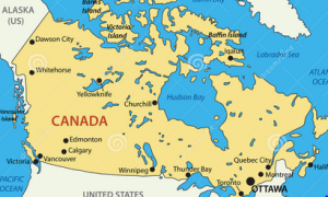 kanada map